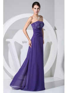 Long Royal Blue Strapless Mother of Bride Dresses Petite Size WE1-018-5