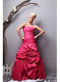 Long Strapless Fuchsia Pretty 2012 Ball Gown Dress SOV113007