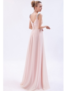 Luxurious Chiffon Coral Prom Dress 2013 im_9897