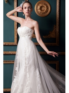 Luxurious Simple Lace Wedding Dresses IMG_1573