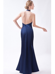 Navy Halter Open Back Sexy Evening Dress IMG_0891