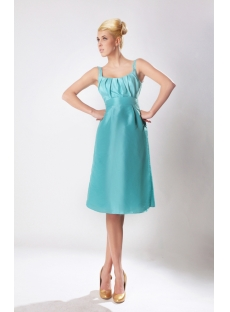 New Straps Teal Blue Short Bridesmaid Dress with Square SOV112001