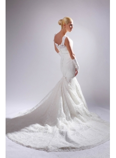 Off Shoulder Mermaid Lace Bridal Gown with Detachable Train SOV110011