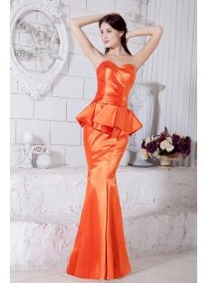 Orange Sexy Mermaid Celebrity Dress IMG_7454