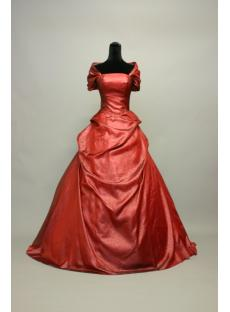 Red 2012 Floor Length Formal Bridal Gown with Shawl IMG_7112