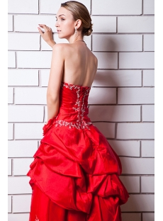 Red Cheap Quinceanera Dress Strapless IMG_0638
