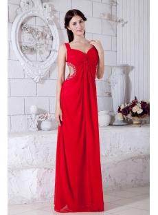 Red Chiffon Celebrity Dresses Cheap 2013 IMG_7796