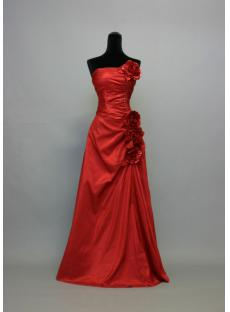 Red Gorgeous Floral Long Formal Evening Dress IMG_2737
