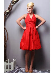 Red Halter Plus Size Bridesmaid Dresses under $150 SOV112012