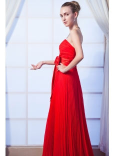 Red Pleat Long Prom Dress 2013 IMG_0106