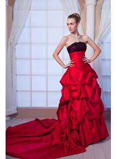 Red and Black Gentle Bridal Gown IMG_0134