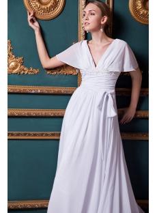 Romantic Chiffon Beach Wedding Dress IMG_1319