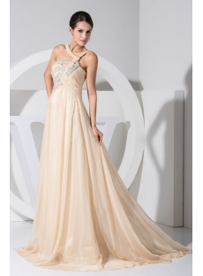 Romantic Empire Plus Size Sexy Evening Dress with Train WD1-036