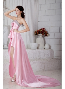 Romantic Pink Sweet 16 High-low Prom Dress IMG_6826
