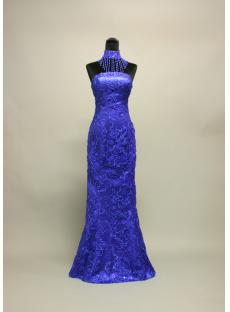 Royal Blue Sheath Celebrity Prom Dress IMG_7154