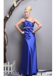 Royal Brilliant Open Back Sexy Evening Dress with One Shoulder SOV111026