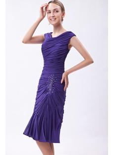 Royal Tea Length Mother of Bride Dress IMG_1245