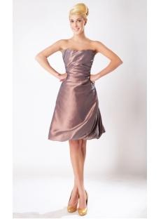 Russet-red Cute Short Junior Bridesmaid Dress SOV11205