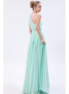 Sage Grecian Military One Shoulder Prom Dress IMG_9882