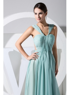 Sage Green Illusion Open Back Sexy Evening Dress WD1-028