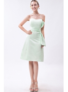 Sage Green Junior Short Bridesmaid Dress IMG_1005