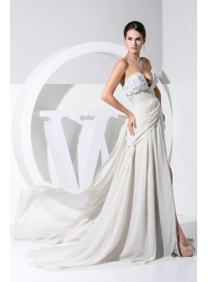 Sexy Gray Split-front Beach Wedding Dress WD1-022