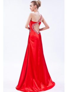 Sexy Red One Shoulder Open Back Graduation Dress IMG_9734