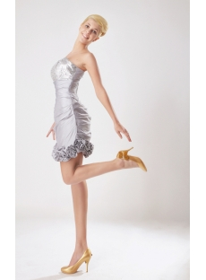 Silver Short Quinceanera Dresses Spring 2013 SOV113002