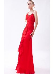 Spaghetti Straps Red High Low Prom Dresses 2013 IMG_1035