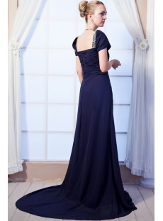 Square Modest Prom Dress 2013 with Short Sleeves IMG_0075