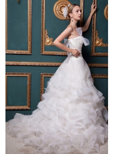 Strapless 2013 Stylish Elegant Ruffle Wedding Dress IMG_1520