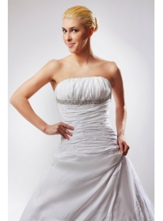 Strapless Long Beautiful Western Bridal Gown with Chapel Train SOV110018