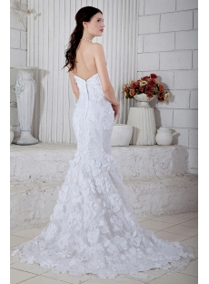 Strapless Long Strapless Princess Mermaid Bridal Gowns with Train IMG_6816