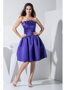 Strapless Royal Blue Short Quinceanera Dress WD1-009