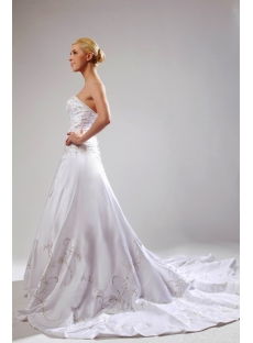Strapless Western Mature Bridal Gown with Embroidery SOV110003