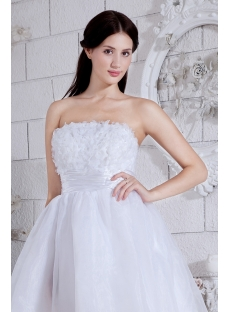 Strapless White Exquisite Short Puffy Sweet 16 Dress 2013 IMG_7575