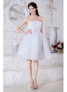 Strapless White Exquisite Short Puffy Sweet 16 Dress 2013
