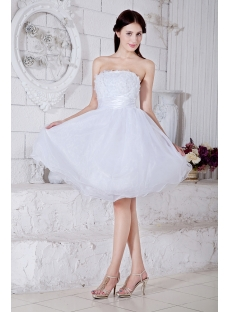 Strapless White Exquisite Short Puffy Sweet 16 Dress 2013 IMG_7575 ...