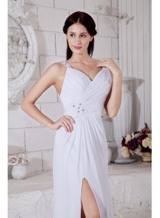 Straps Split Front Beach Casual Wedding Gown IMG_7599