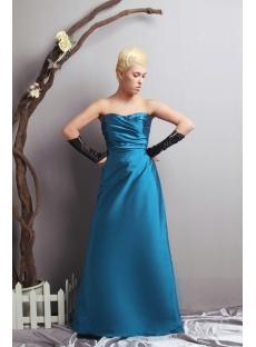 Sweetheart Long Teal A-line Pretty Prom Dress SOV111024