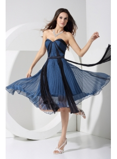 Sweetheart Navy and Black Beach Bridesmaid Dress WD1-053