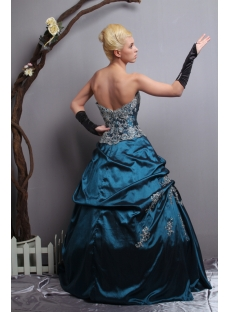Teal Long New 2013 quinceanera dresses with Sweetheart SOV113010