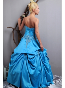 Turquoise Blue Quinceanera Dresses 2013 with Pick up Skirt SOV113016