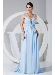Turquoise Fashionable Illusion Sexy Mother of Bride Dress WD1-039