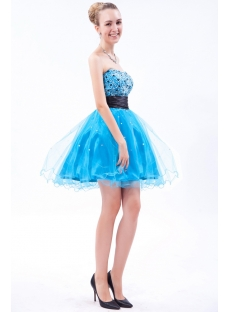 Turquoise and Black Sweet 16 Gown IMG_9568