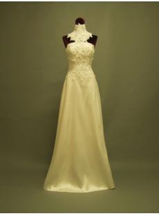 Unique Detachable Neck and Train Bridal Gown P8310682