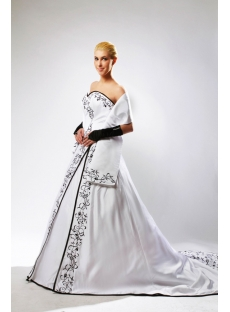 Winter Bridal Gown Black Embroidery with Match Shawl SOV110001