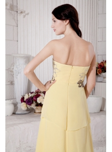 Wonderful Chiffon Yellow High-low Prom Dress with Train IMG_7697
