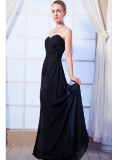 Simple Bridesmaid Dresses Black IMG_0061