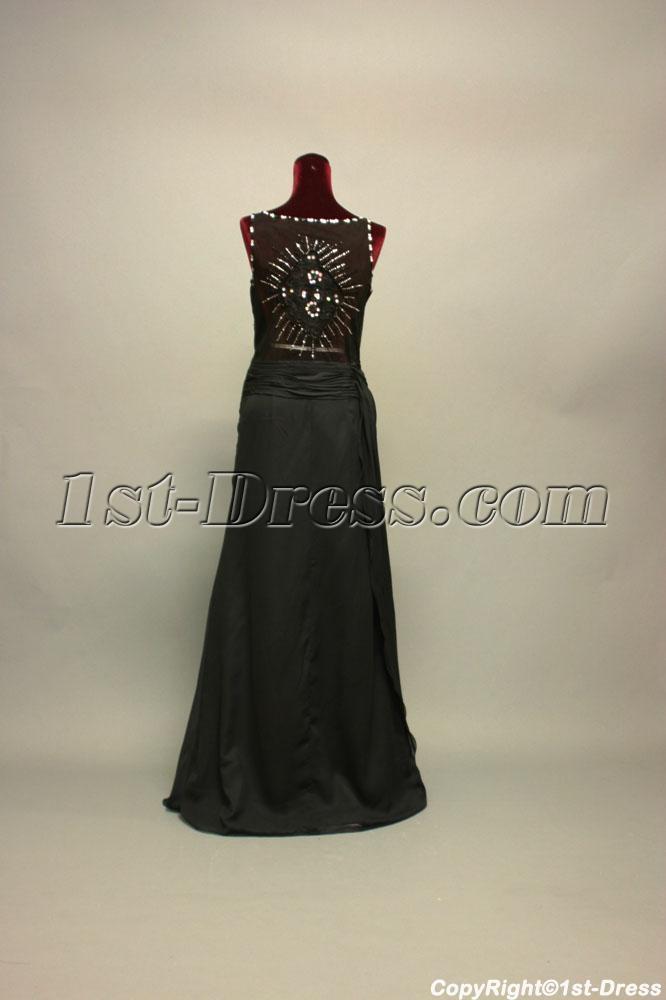 Black Illusion Back Prom Dress Plus Size IMG_7141 :1st-dress.com